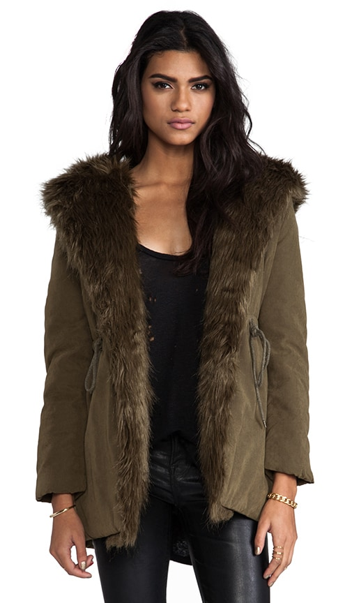 Cara Parka with Faux Fur