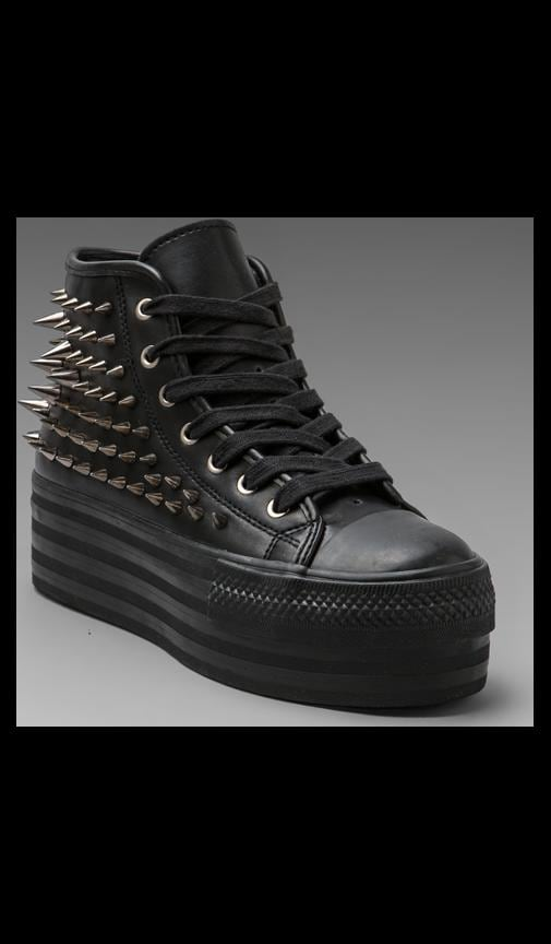 Koop Leather Studded Sneaker
