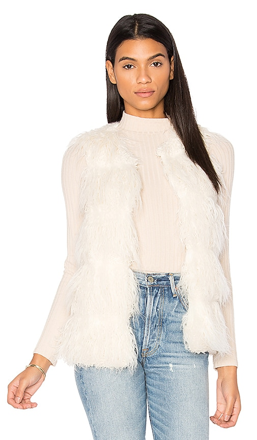 Unreal Fur Malibu Dream Faux Fur Vest in Ivory