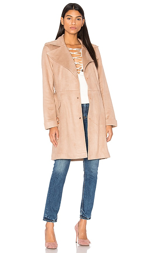 Unreal Fur Magic Trench Coat in Beige