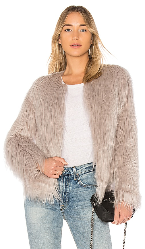 Unreal Fur Unreal Dream Jacket in Gray
