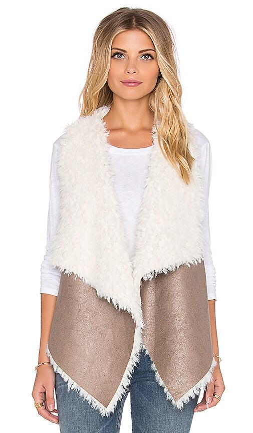 Unreal Fur Duet Reversible Vest in Taupe & Cream