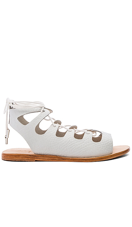 Urge Sparticus Sandal in White Croc