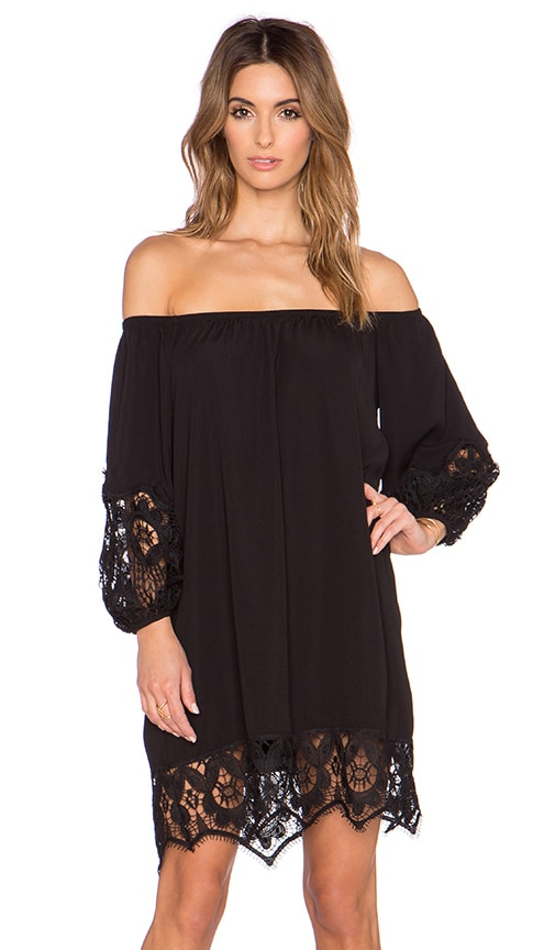 VAVA by Joy Han Regina Off the Shoulder Dress in Black