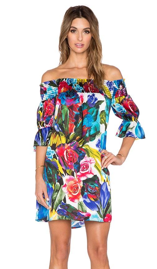 VAVA by Joy Han Esther Off Shoulder Dress in Blue