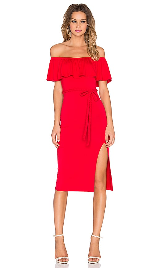 VAVA by Joy Han Victoriana Off Shoulder Dress in Red