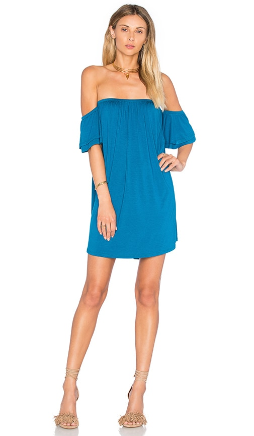 VAVA by Joy Han Sophia Off Shoulder Dress in Blue