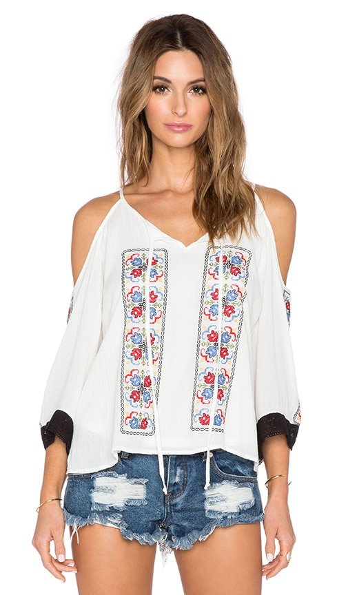 VAVA by Joy Han Magnolia Off the Shoulder Top in Off White