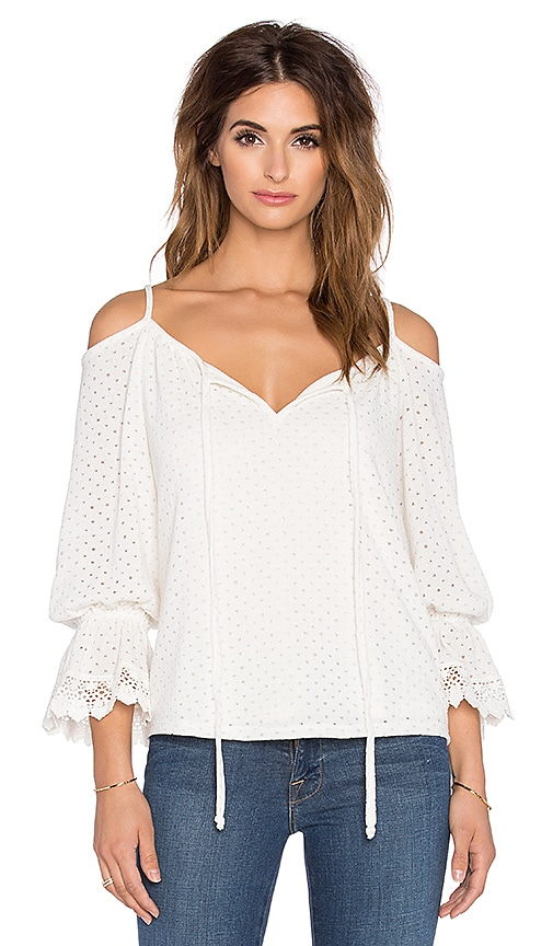 VAVA by Joy Han Hyria Open Shoulder Top in White