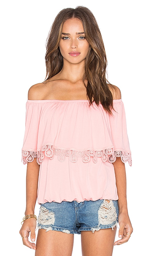 VAVA by Joy Han Bambi Off Shoulder Top in Pink
