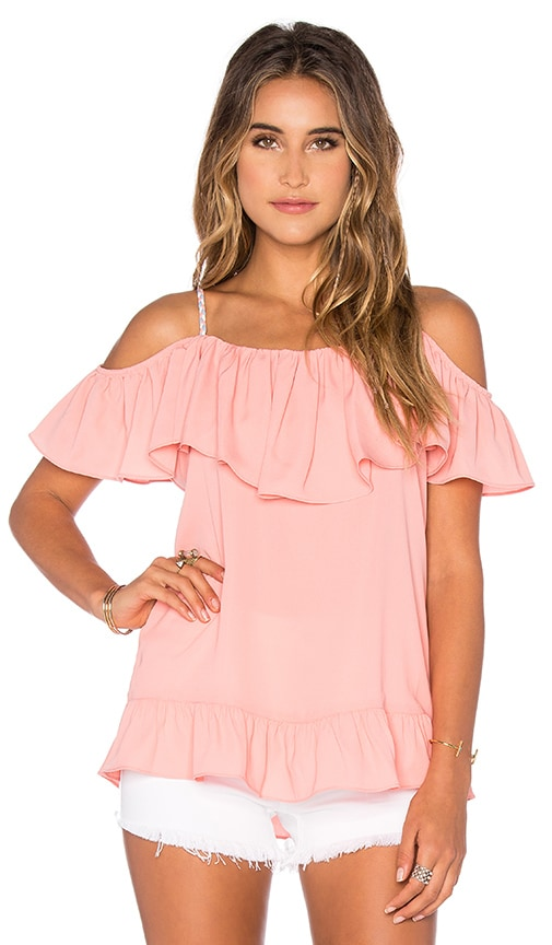 VAVA by Joy Han Nala Ruffle Top in Coral