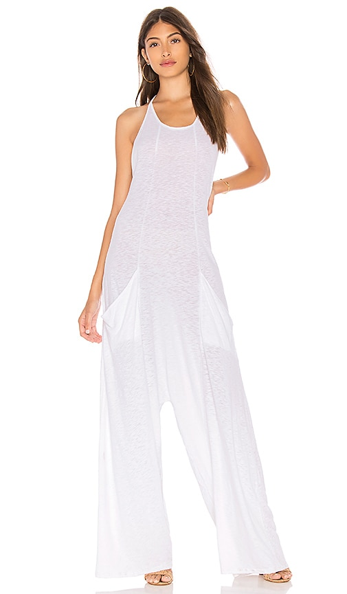 vitamin A Gemini Jumpsuit in White
