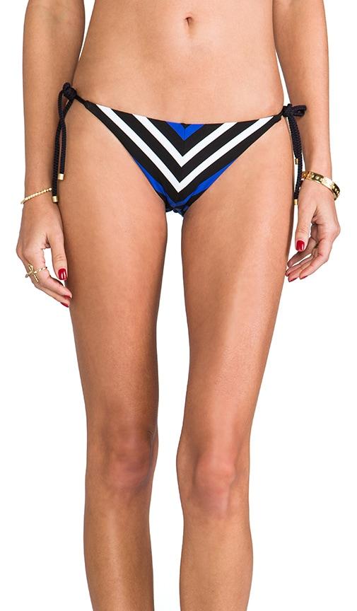 Natalie Mitre Stripe Tie-Side