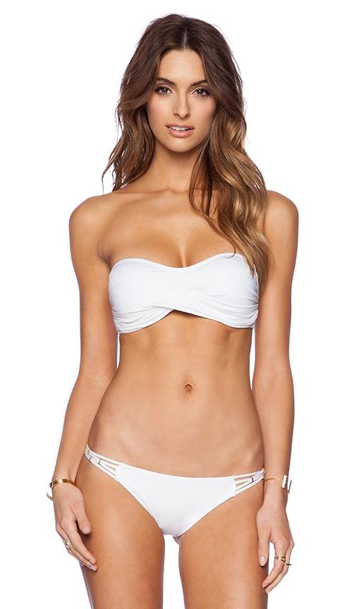 Amber Beaded Bandeau Bikini Top