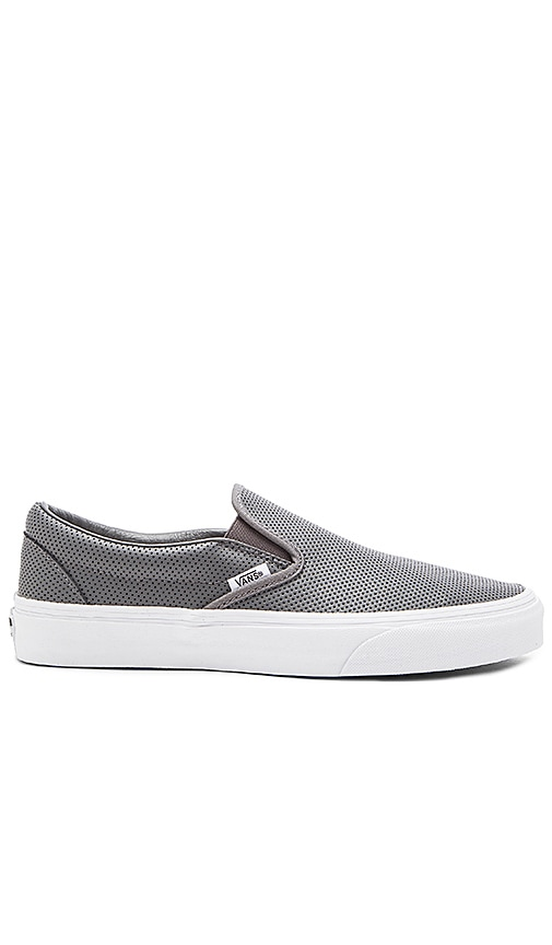928db8e0e62dff Vans Classic Slip-On Perforated Leather in Smoked Pearl