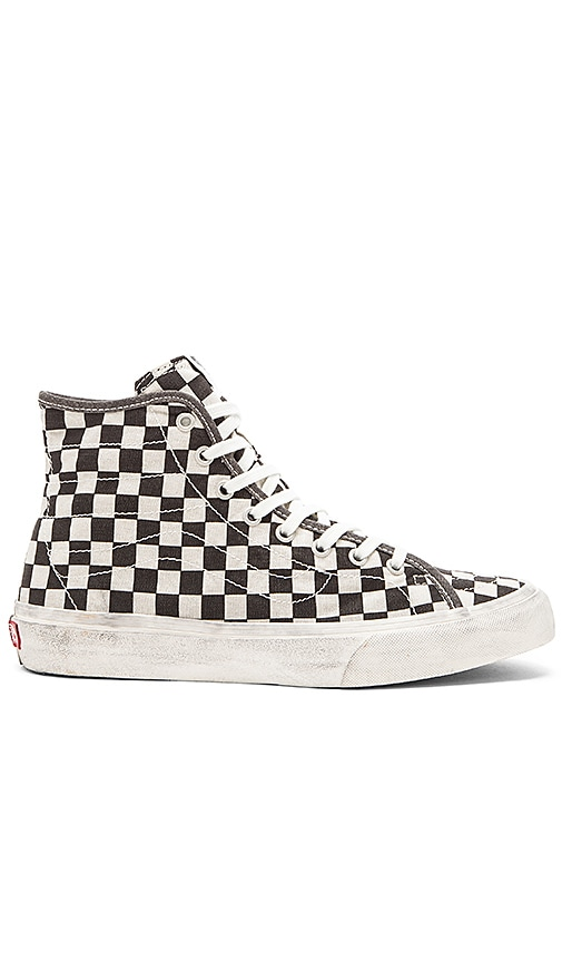6eab6ccb08 Vans SK8 Hi Decon Overwashed in Black Check