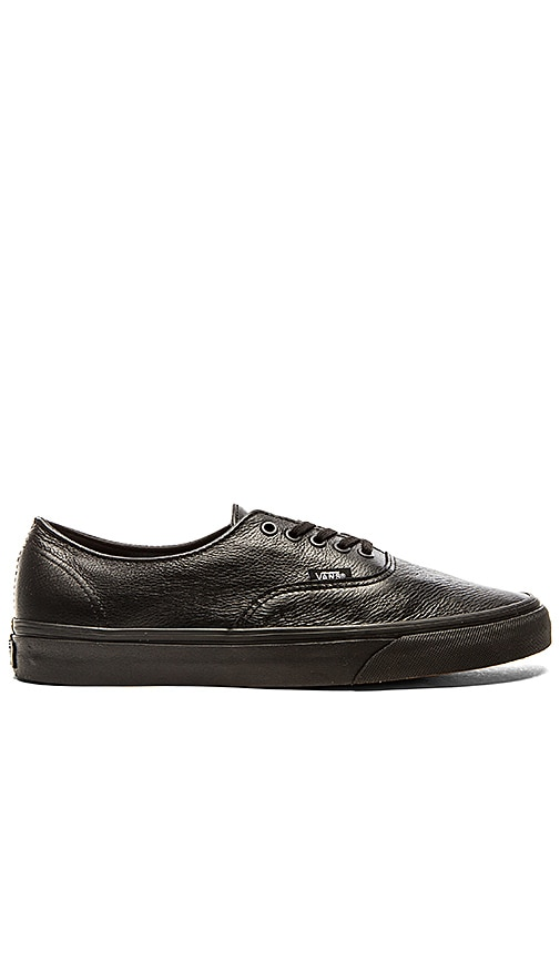 vans black leather authentic decon nz