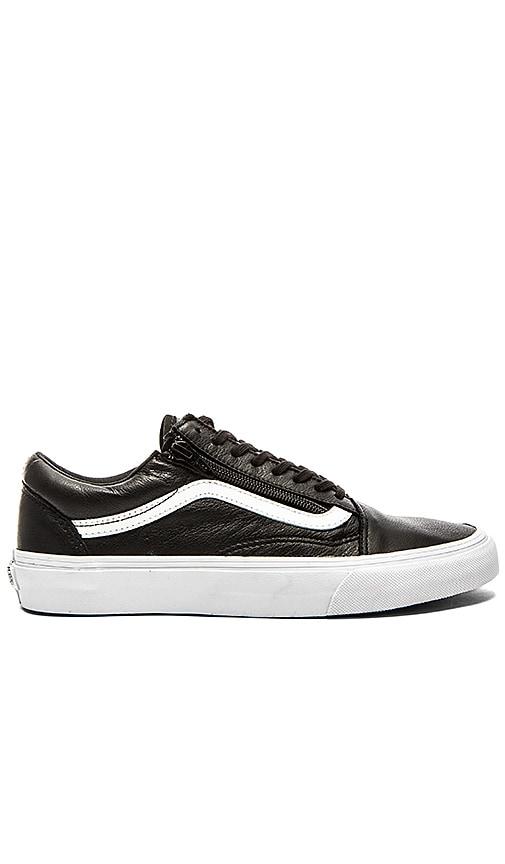 c3434d64e4 Vans Old Skool Zip Premium Leather in Black