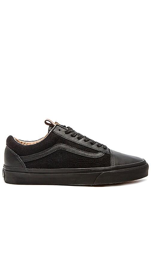 01f9b1a86a Vans California Old Skool Reissue Leather   Wool in Black Black ...