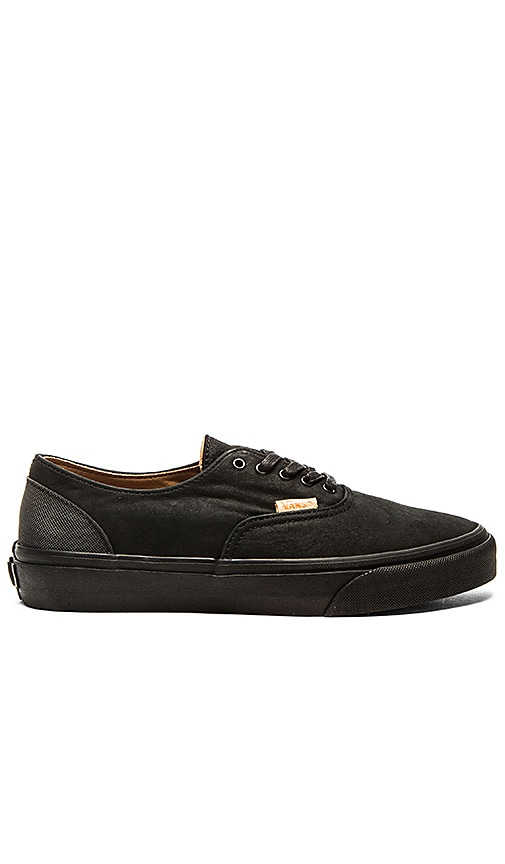 bacbe79528 Vans California Era Decon Mono Leather in Black Rubber