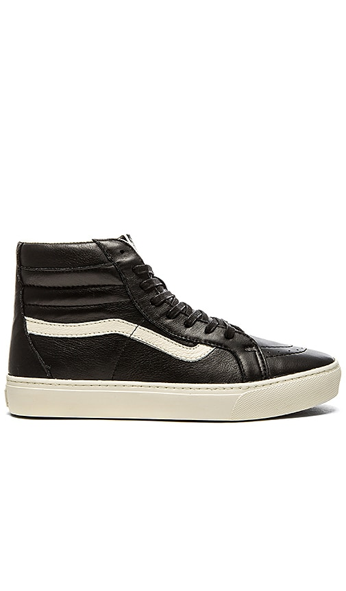 5217739589 Vans California SK8 Hi Cup Leather in Black Whisper White