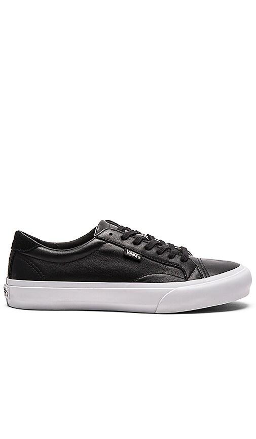 vans leather court white