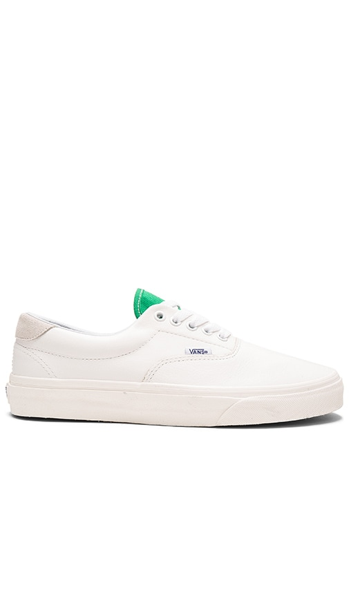 a22b7668f80bd4 Vans Era 59 in True White   Kelly Green