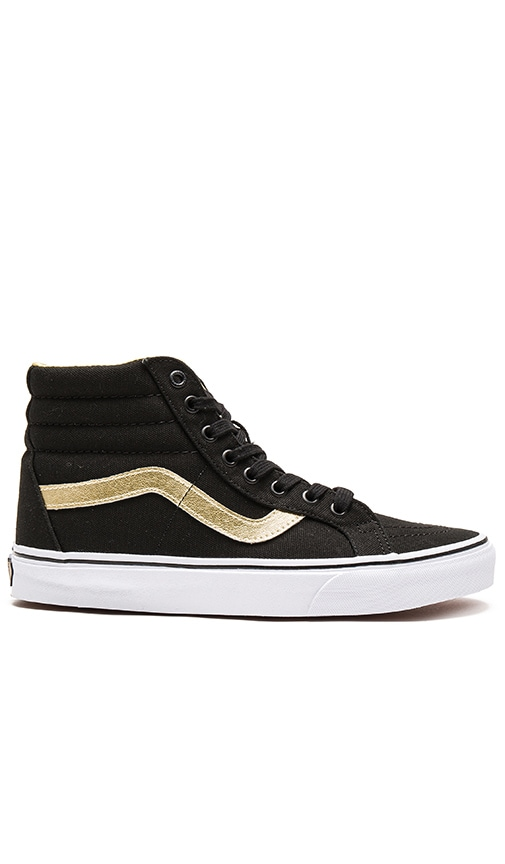 7b0cb038dbb5 Vans SK8-Hi Reissue 50th in Black   Gold