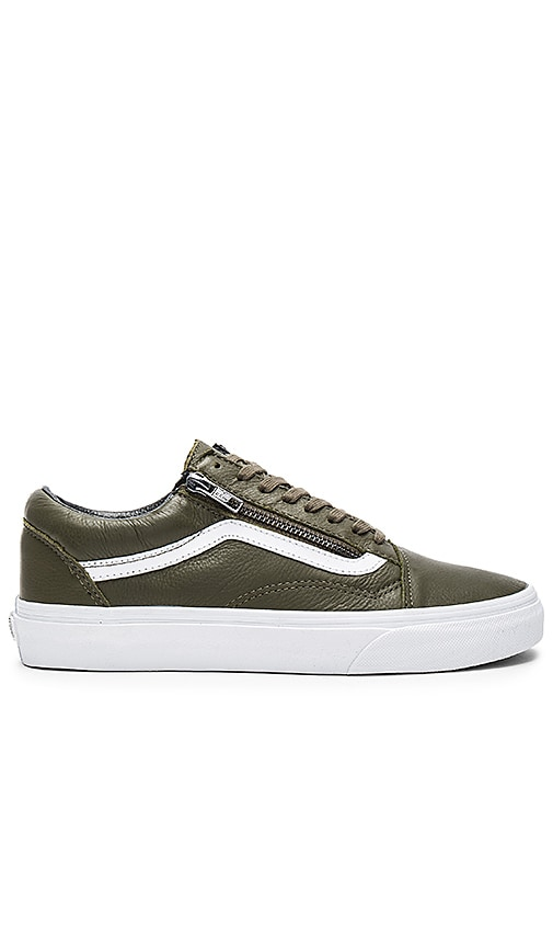vans old skool zip khaki