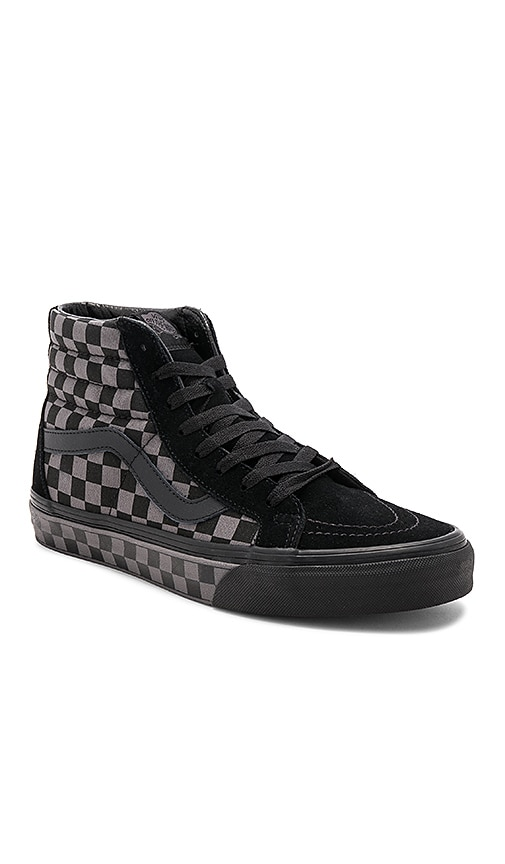 551b68b514597c Vans Sk8-Hi Reissue Checkerboard in Black   Pewter   Check