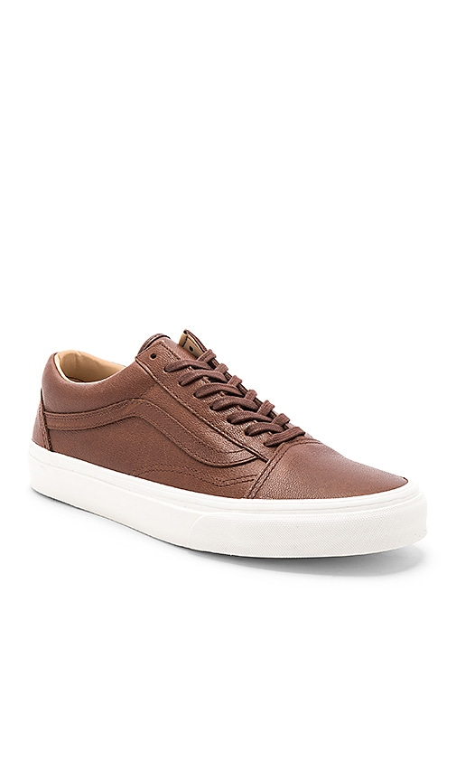 19db484783 Vans Old Skool Lux Leather in Shaved Chocolate   Porcini