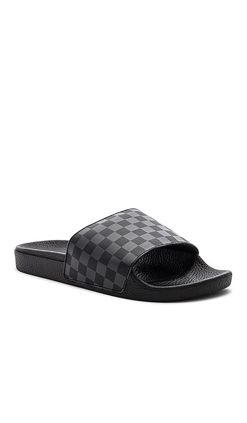 afb0f71b681 Vans Checkerboard Slide-On in Black   Asphalt