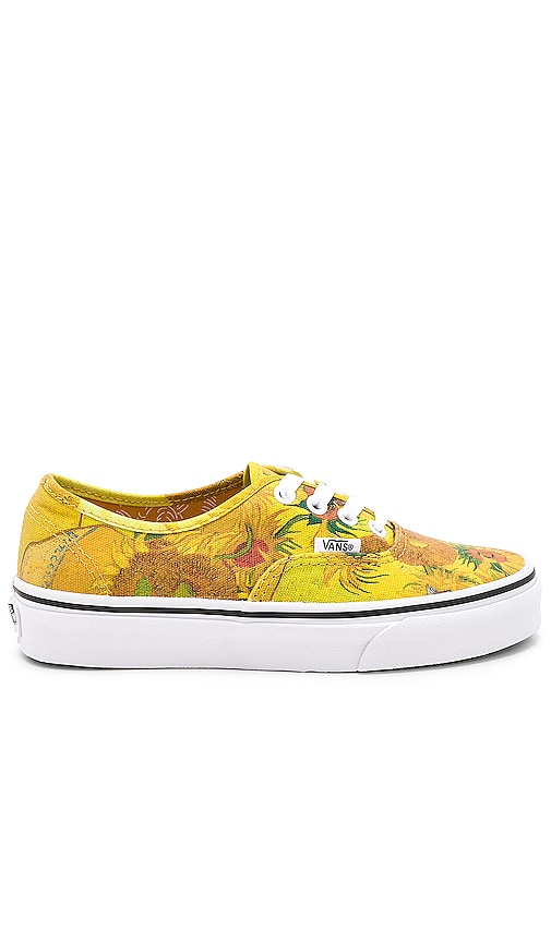 b7d818baa917 Vans x Vincent Van Gogh Authentic in Sunflowers   True White