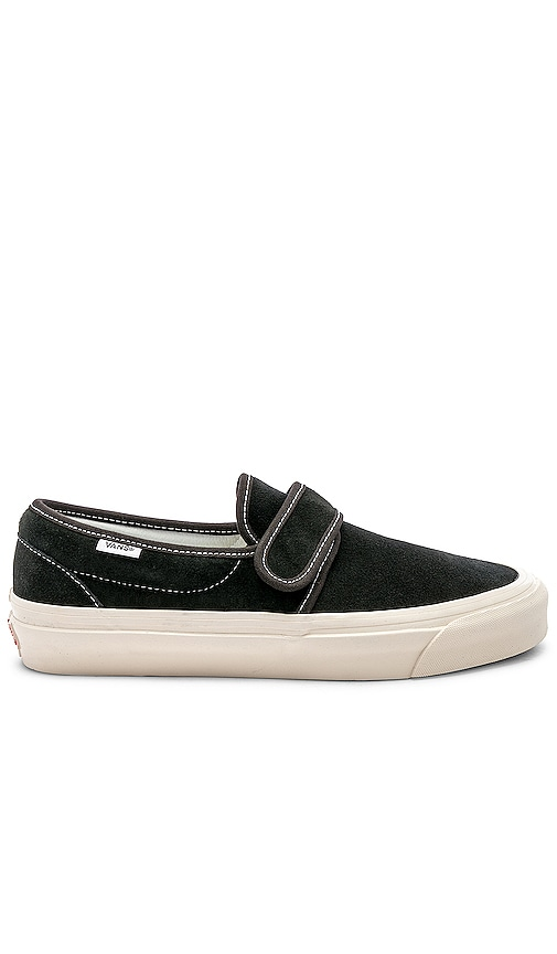 d517fd66f6 Vans Slip On 47 V DX in OG Black   Suede