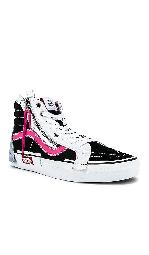 239dad8fc2 Vans Sk8-Hi Reissue Cap in Black   Azalea Pink