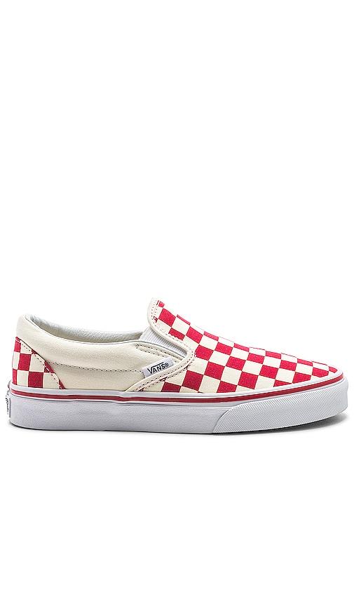 Vans Slip-On in Racing Red \u0026 White