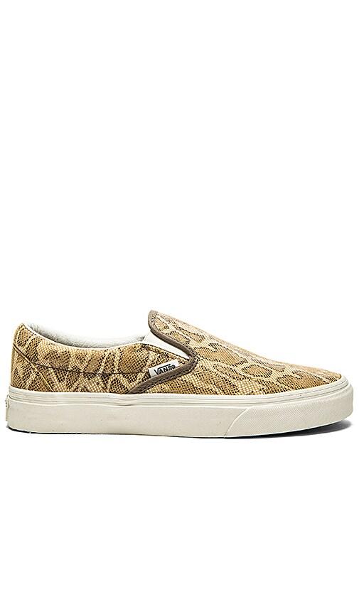 fe36b7288d2815 Vans Classic Slip On Sneaker in Snake Tan