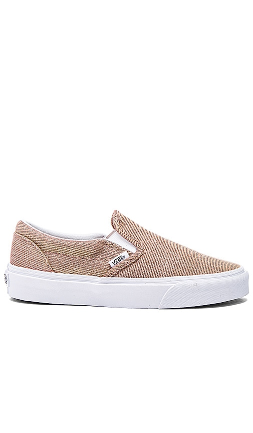 Vans Classic Slip On Sneaker in Rose Gold   True White  256fde525