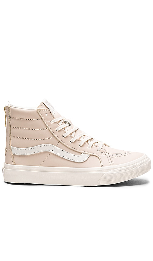 Leather Sk8-Hi Slim Zip Sneaker