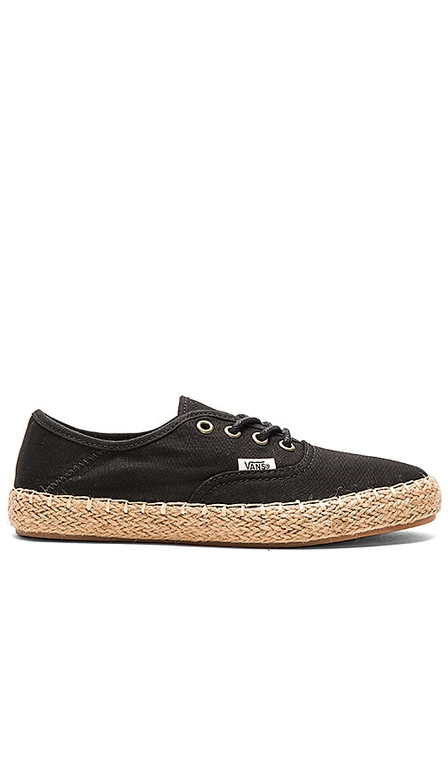Vans Authentic Espadrille in Black