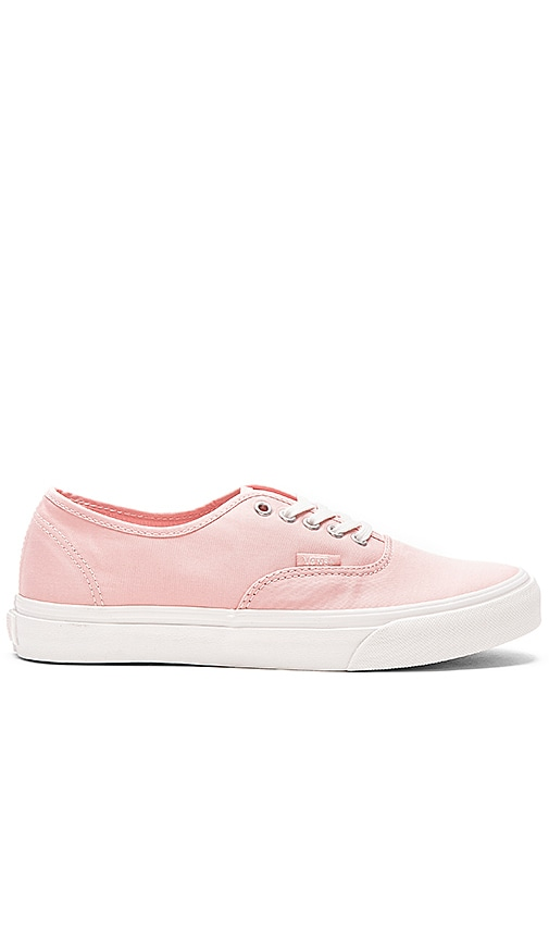 Vans Brushed Twill Authentic Slim Sneaker in Pink