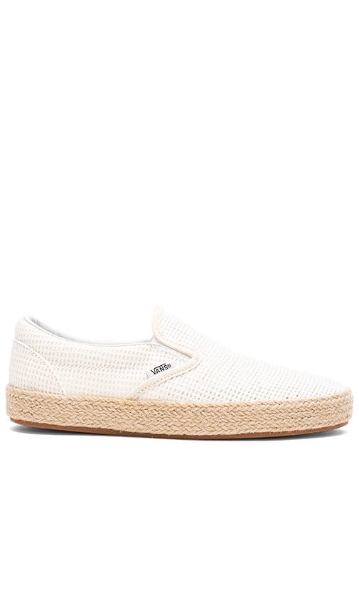 Vans Mesh Classic Slip-On Espadrille in White