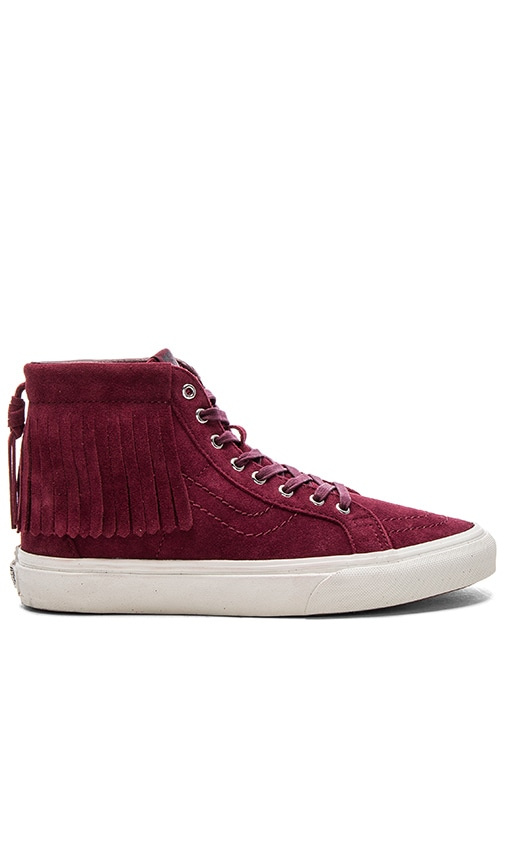 3b1149e701 Vans SK8-Hi Moc Sneaker in Port Royale   Blanc De Blanc