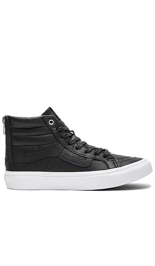 Vans SK8-HI Slim Zip Sneaker in Black
