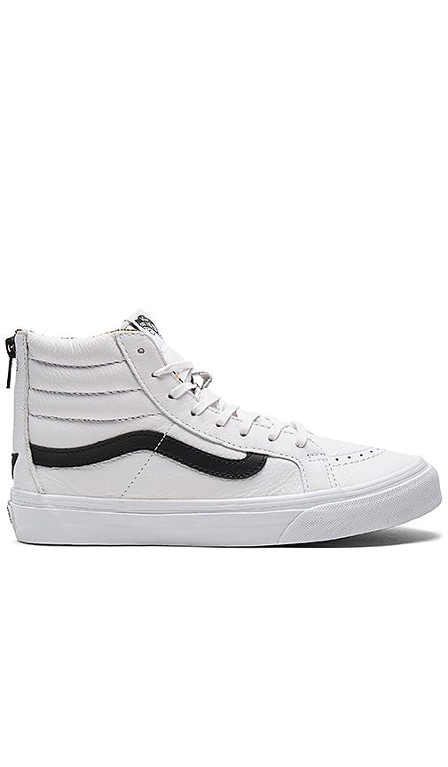 Vans SK8-HI Slim Zip Sneaker in White