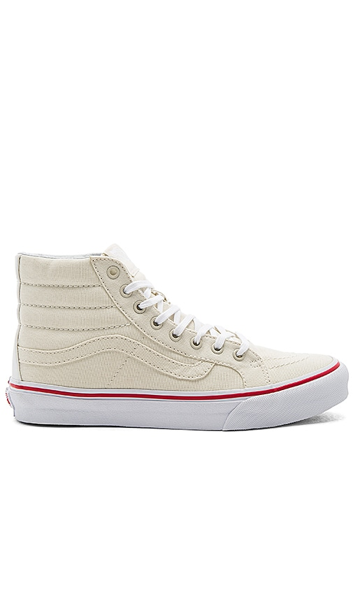Vans SK8-Hi Slim Sneaker in Cream