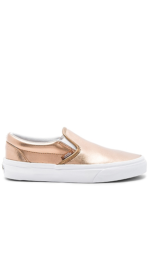 Vans Classic Slip On Sneaker in Metallic Copper