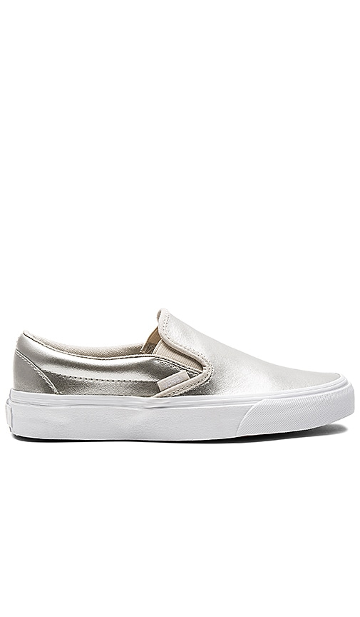 Vans Classic Slip-On Sneaker in Metallic Silver