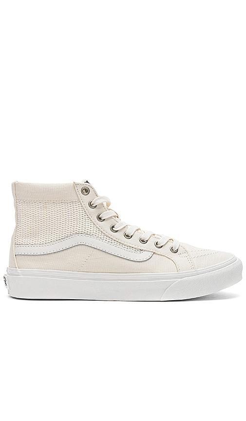 Vans SK8-Hi Slim Cutout Sneaker in White