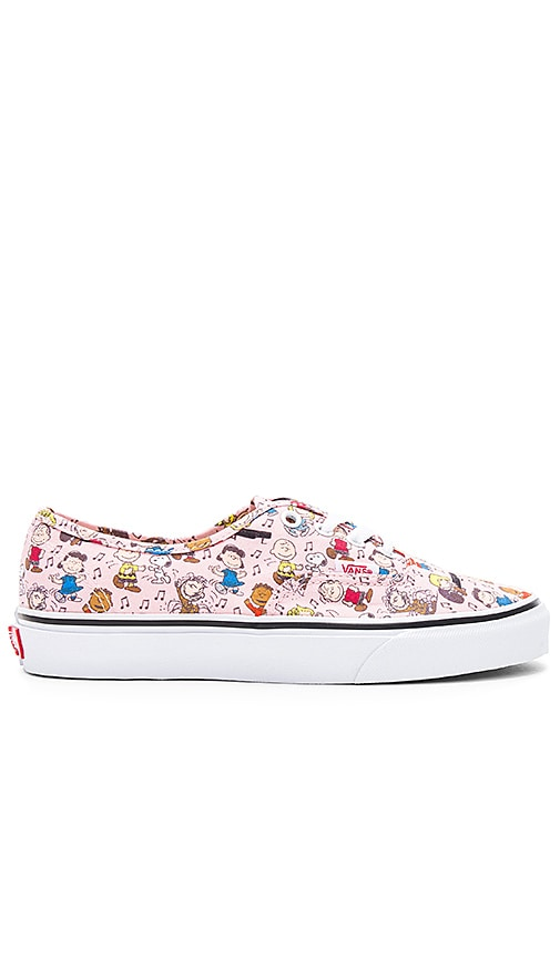 Vans Peanuts Authentic Sneaker in Pink